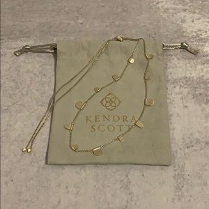 Olive Long Necklace in Gold